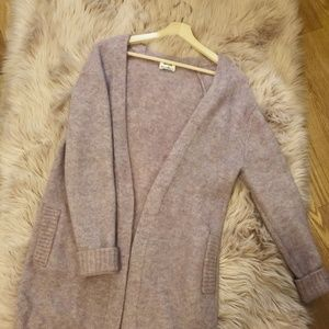 Acne Studios fluffy cardigan mixed pink